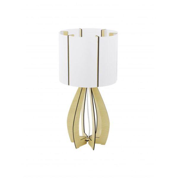 Cossano tafellamp uit de tafellampen collectie van Eglo, verlichting voor een sfeervol thuis! Schitterende lamp vervaardigd uit hout, ahorn van kleur en passend bij vele interieurstijlen. De tafellamp is voorzien van een E27 fitting. Tafellamp Cossano wordt geleverd exclusief lichtbron(nen).