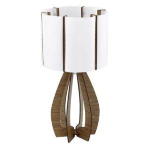 Cossano tafellamp uit de tafellampen collectie van Eglo, verlichting voor een sfeervol thuis! Schitterende lamp vervaardigd uit hout, bruin van kleur en passend bij vele interieurstijlen. De tafellamp is voorzien van een E27 fitting. Tafellamp Cossano wordt geleverd exclusief lichtbron(nen).
