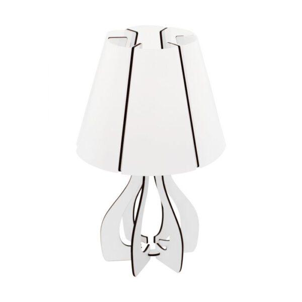 Cossano tafellamp uit de tafellampen collectie van Eglo, verlichting voor een sfeervol thuis! Schitterende lamp vervaardigd uit hout, wit van kleur en passend bij vele interieurstijlen. De tafellamp is voorzien van een E14 fitting. Tafellamp Cossano wordt geleverd exclusief lichtbron(nen).
