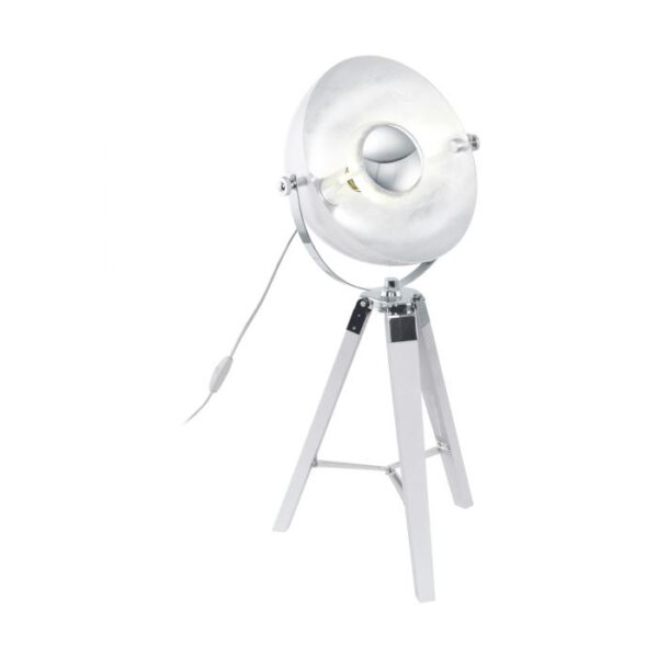 Covaleda tafellamp uit de tafellampen collectie van Eglo, verlichting voor een sfeervol thuis! Schitterende lamp vervaardigd uit hout, white, chrome, silver van kleur en passend bij vele interieurstijlen. De tafellamp is voorzien van een E27 fitting. Tafellamp Covaleda wordt geleverd exclusief lichtbron(nen).