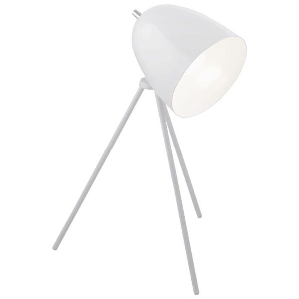 Don Diego tafellamp uit de tafellampen collectie van Eglo, verlichting voor een sfeervol thuis! Schitterende lamp vervaardigd uit metaal, wit, chroom van kleur en passend bij vele interieurstijlen. De tafellamp is voorzien van een E27 fitting. Tafellamp Don Diego wordt geleverd exclusief lichtbron(nen).