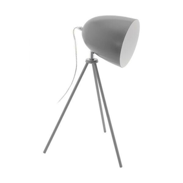 Dundee tafellamp uit de tafellampen collectie van Eglo, verlichting voor een sfeervol thuis! Schitterende lamp vervaardigd uit metaal, grijs van kleur en passend bij vele interieurstijlen. De tafellamp is voorzien van een E27 fitting. Tafellamp Dundee wordt geleverd exclusief lichtbron(nen).