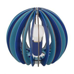 Fabella tafellamp uit de tafellampen collectie van Eglo, verlichting voor een sfeervol thuis! Schitterende lamp vervaardigd uit metaal, blauw van kleur en passend bij vele interieurstijlen. De tafellamp is voorzien van een E27 fitting. Tafellamp Fabella wordt geleverd exclusief lichtbron(nen).