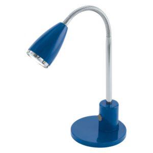 Fox tafellamp uit de tafellampen collectie van Eglo, verlichting voor een sfeervol thuis! Schitterende lamp vervaardigd uit metaal, blauw, chroom van kleur en passend bij vele interieurstijlen. De tafellamp is voorzien van een GU10-LED fitting. Tafellamp Fox wordt geleverd inclusief lichtbron(nen).