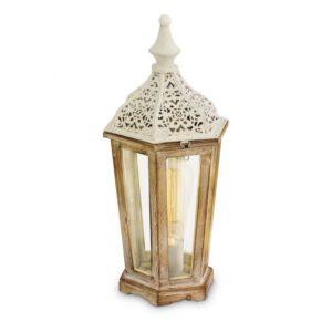 Kinghorn tafellamp uit de tafellampen collectie van Eglo, verlichting voor een sfeervol thuis! Schitterende lamp vervaardigd uit metaal, wit-patina van kleur en passend bij vele interieurstijlen. De tafellamp is voorzien van een E27 fitting. Tafellamp Kinghorn wordt geleverd exclusief lichtbron(nen).
