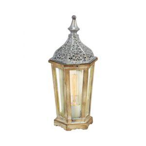 Kinghorn tafellamp uit de tafellampen collectie van Eglo, verlichting voor een sfeervol thuis! Schitterende lamp vervaardigd uit metaal, zilver van kleur en passend bij vele interieurstijlen. De tafellamp is voorzien van een E27 fitting. Tafellamp Kinghorn wordt geleverd exclusief lichtbron(nen).