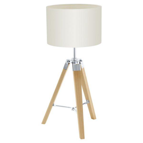 Lantada tafellamp uit de tafellampen collectie van Eglo, verlichting voor een sfeervol thuis! Schitterende lamp vervaardigd uit hout, natuur van kleur en passend bij vele interieurstijlen. De tafellamp is voorzien van een E27 fitting. Tafellamp Lantada wordt geleverd exclusief lichtbron(nen).