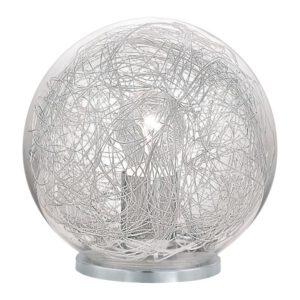 Luberio tafellamp uit de tafellampen collectie van Eglo, verlichting voor een sfeervol thuis! Schitterende lamp vervaardigd uit kunststof, zilver van kleur en passend bij vele interieurstijlen. De tafellamp is voorzien van een E27 fitting. Tafellamp Luberio wordt geleverd exclusief lichtbron(nen).