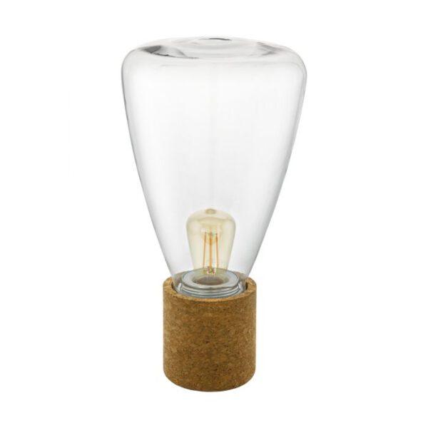Olival tafellamp uit de tafellampen collectie van Eglo, verlichting voor een sfeervol thuis! Schitterende lamp vervaardigd uit kurk, bruin van kleur en passend bij vele interieurstijlen. De tafellamp is voorzien van een E27-LED fitting. Tafellamp Olival wordt geleverd exclusief lichtbron(nen).