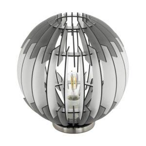 Olmero tafellamp uit de tafellampen collectie van Eglo, verlichting voor een sfeervol thuis! Schitterende lamp vervaardigd uit metaal, nikkel-mat van kleur en passend bij vele interieurstijlen. De tafellamp is voorzien van een E27 fitting. Tafellamp Olmero wordt geleverd exclusief lichtbron(nen).