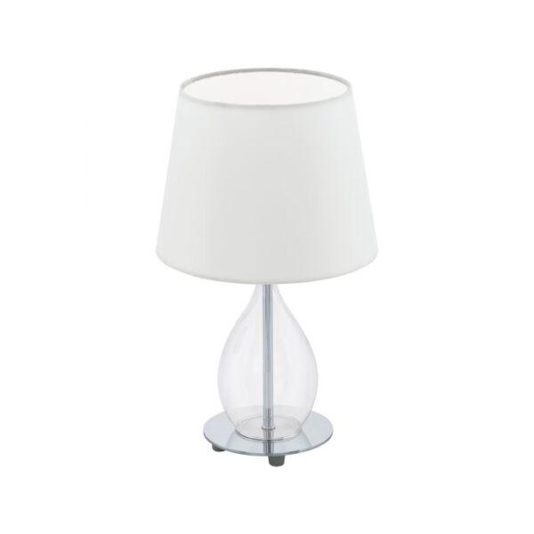 Rineiro tafellamp uit de tafellampen collectie van Eglo, verlichting voor een sfeervol thuis! Schitterende lamp vervaardigd uit metaal, chroom, helder van kleur en passend bij vele interieurstijlen. De tafellamp is voorzien van een E14 fitting. Tafellamp Rineiro wordt geleverd exclusief lichtbron(nen).
