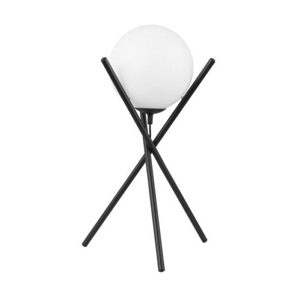 Salvezinas tafellamp uit de tafellampen collectie van Eglo, verlichting voor een sfeervol thuis! Schitterende lamp vervaardigd uit metaal, zwart van kleur en passend bij vele interieurstijlen. De tafellamp is voorzien van een E14 fitting. Tafellamp Salvezinas wordt geleverd exclusief lichtbron(nen).