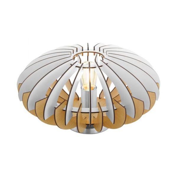 Sotos tafellamp uit de tafellampen collectie van Eglo, verlichting voor een sfeervol thuis! Schitterende lamp vervaardigd uit metaal, nikkel-mat van kleur en passend bij vele interieurstijlen. De tafellamp is voorzien van een E27 fitting. Tafellamp Sotos wordt geleverd exclusief lichtbron(nen).