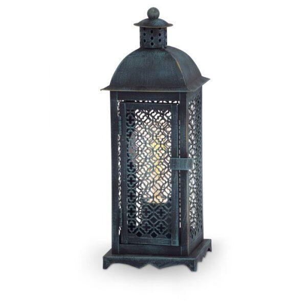 Winsham tafellamp uit de tafellampen collectie van Eglo, verlichting voor een sfeervol thuis! Schitterende lamp vervaardigd uit metaal, groen-patina van kleur en passend bij vele interieurstijlen. De tafellamp is voorzien van een E27 fitting. Tafellamp Winsham wordt geleverd exclusief lichtbron(nen).