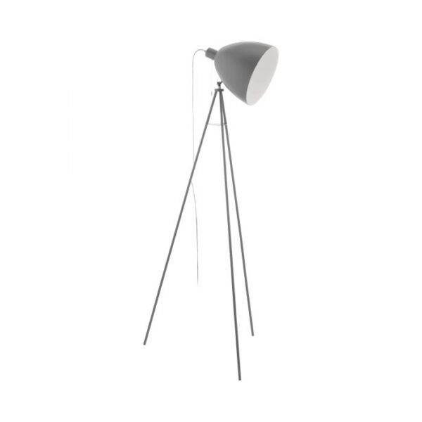 Dundee vloerlamp uit de vloerlampen collectie van Eglo, verlichting voor een sfeervol thuis! Schitterende lamp vervaardigd uit metaal, grijs van kleur en passend bij vele interieurstijlen. De vloerlamp is voorzien van een E27 fitting. Vloerlamp Dundee wordt geleverd exclusief lichtbron(nen).