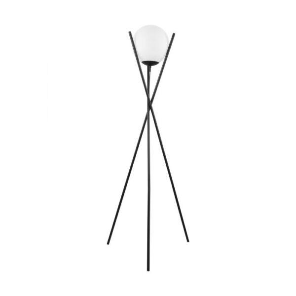 Salvezinas vloerlamp uit de vloerlampen collectie van Eglo, verlichting voor een sfeervol thuis! Schitterende lamp vervaardigd uit metaal, zwart van kleur en passend bij vele interieurstijlen. De vloerlamp is voorzien van een E27 fitting. Vloerlamp Salvezinas wordt geleverd exclusief lichtbron(nen).