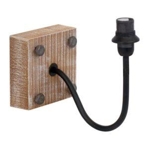 1+1 Vintage wandlamp uit de wandlampen collectie van Eglo, verlichting voor een sfeervol thuis! Schitterende lamp vervaardigd uit hout, zwart van kleur en passend bij vele interieurstijlen. De wandlamp is voorzien van een E14 fitting. Wandlamp 1+1 Vintage wordt geleverd exclusief lichtbron(nen).