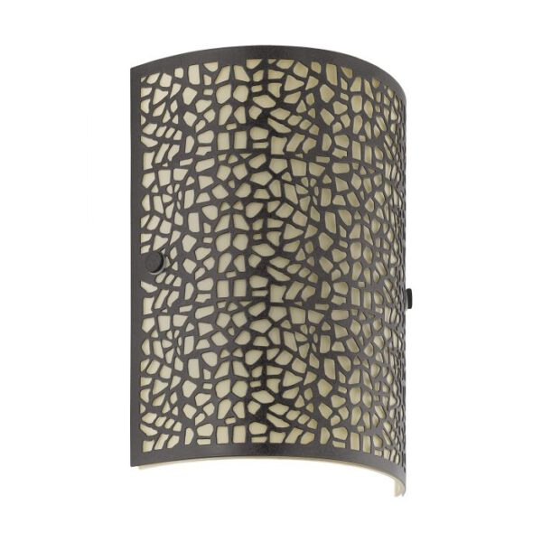 Almera wandlamp uit de wandlampen collectie van Eglo, verlichting voor een sfeervol thuis! Schitterende lamp vervaardigd uit metaal, antiek-bruin van kleur en passend bij vele interieurstijlen. De wandlamp is voorzien van een E14 fitting. Wandlamp Almera wordt geleverd exclusief lichtbron(nen).