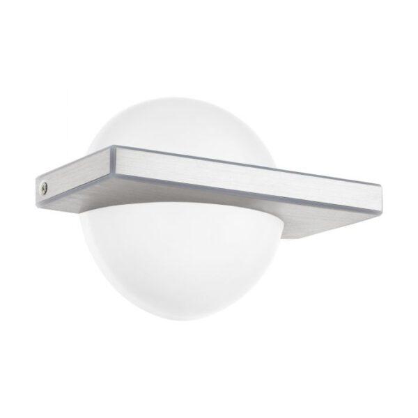 Boldo wandlamp uit de wandlampen collectie van Eglo, verlichting voor een sfeervol thuis! Schitterende lamp vervaardigd uit aluminium, aluminium-geborsteld van kleur en passend bij vele interieurstijlen. De wandlamp is voorzien van een LED fitting. Wandlamp Boldo wordt geleverd inclusief lichtbron(nen).