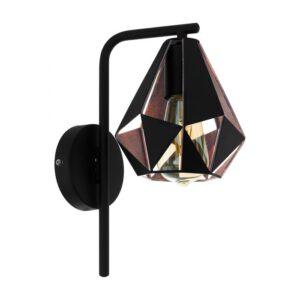 Carlton 4 wandlamp uit de wandlampen collectie van Eglo, verlichting voor een sfeervol thuis! Schitterende lamp vervaardigd uit metaal, zwart, koperkleur-antiek van kleur en passend bij vele interieurstijlen. De wandlamp is voorzien van een E27 fitting. Wandlamp Carlton 4 wordt geleverd exclusief lichtbron(nen).