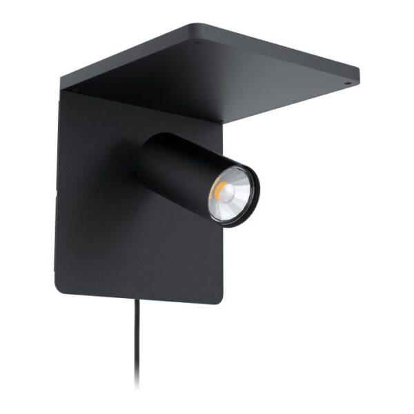 Ciglie wandlamp uit de wandlampen collectie van Eglo, verlichting voor een sfeervol thuis! Schitterende lamp vervaardigd uit aluminium, zwart van kleur en passend bij vele interieurstijlen. De wandlamp is voorzien van een E14 fitting. Wandlamp Ciglie wordt geleverd exclusief lichtbron(nen).