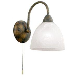 Dionis wandlamp uit de wandlampen collectie van Eglo, verlichting voor een sfeervol thuis! Schitterende lamp vervaardigd uit metaal, roestkleuren van kleur en passend bij vele interieurstijlen. De wandlamp is voorzien van een E14 fitting. Wandlamp Dionis wordt geleverd exclusief lichtbron(nen).