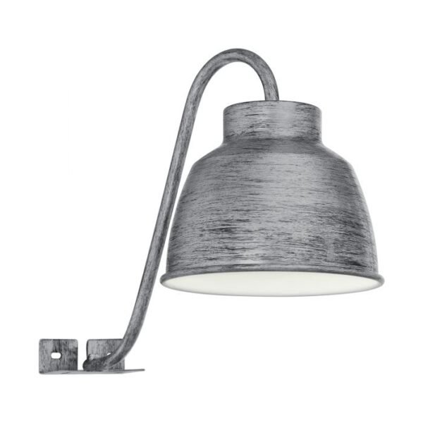 Epila wandlamp uit de wandlampen collectie van Eglo, verlichting voor een sfeervol thuis! Schitterende lamp vervaardigd uit metaal, zilver-antiek van kleur en passend bij vele interieurstijlen. De wandlamp is voorzien van een GU10-LED fitting. Wandlamp Epila wordt geleverd inclusief lichtbron(nen).