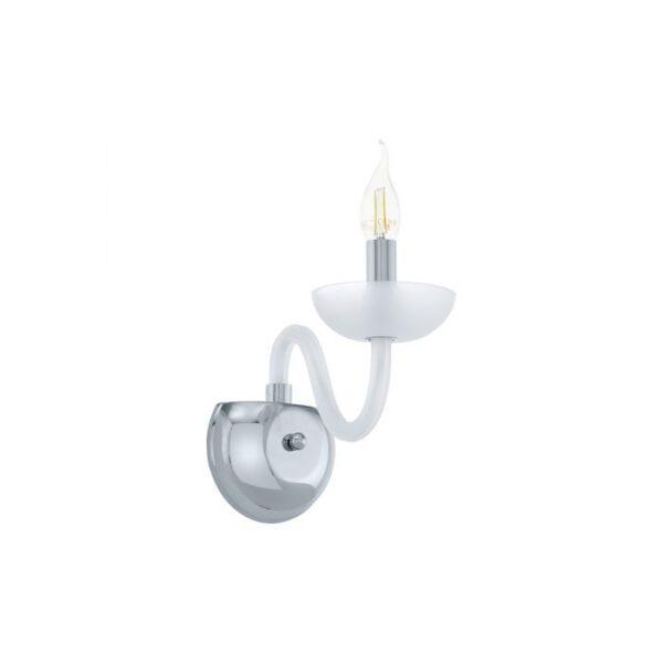 Falcado 1 wandlamp uit de wandlampen collectie van Eglo, verlichting voor een sfeervol thuis! Schitterende lamp vervaardigd uit metaal, chroom van kleur en passend bij vele interieurstijlen. De wandlamp is voorzien van een E14 fitting. Wandlamp Falcado 1 wordt geleverd exclusief lichtbron(nen).