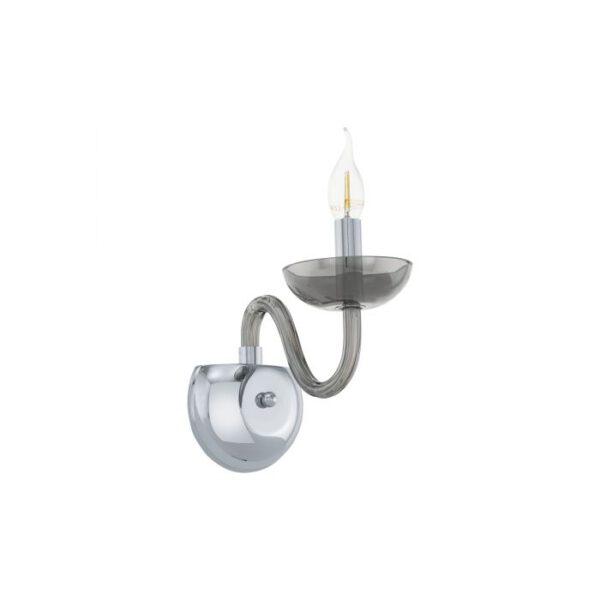 Falcado wandlamp uit de wandlampen collectie van Eglo, verlichting voor een sfeervol thuis! Schitterende lamp vervaardigd uit metaal, chroom van kleur en passend bij vele interieurstijlen. De wandlamp is voorzien van een E14 fitting. Wandlamp Falcado wordt geleverd exclusief lichtbron(nen).