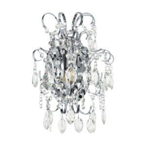 Fenoullet wandlamp uit de wandlampen collectie van Eglo, verlichting voor een sfeervol thuis! Schitterende lamp vervaardigd uit metaal, chroom van kleur en passend bij vele interieurstijlen. De wandlamp is voorzien van een E14 fitting. Wandlamp Fenoullet wordt geleverd exclusief lichtbron(nen).