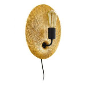 Gascueria wandlamp uit de wandlampen collectie van Eglo, verlichting voor een sfeervol thuis! Schitterende lamp vervaardigd uit kunststof, goud, zwart van kleur en passend bij vele interieurstijlen. De wandlamp is voorzien van een E27 fitting. Wandlamp Gascueria wordt geleverd exclusief lichtbron(nen).