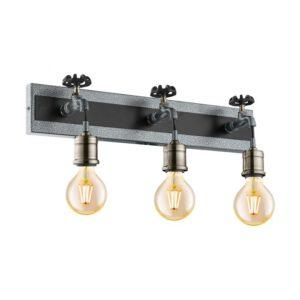 Goldcliff wandlamp uit de wandlampen collectie van Eglo, verlichting voor een sfeervol thuis! Schitterende lamp vervaardigd uit metaal, zilver-antiek, zwart van kleur en passend bij vele interieurstijlen. De wandlamp is voorzien van een E27 fitting. Wandlamp Goldcliff wordt geleverd exclusief lichtbron(nen).