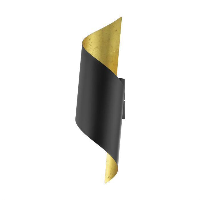 Jabaloyas wandlamp - zwart, goud