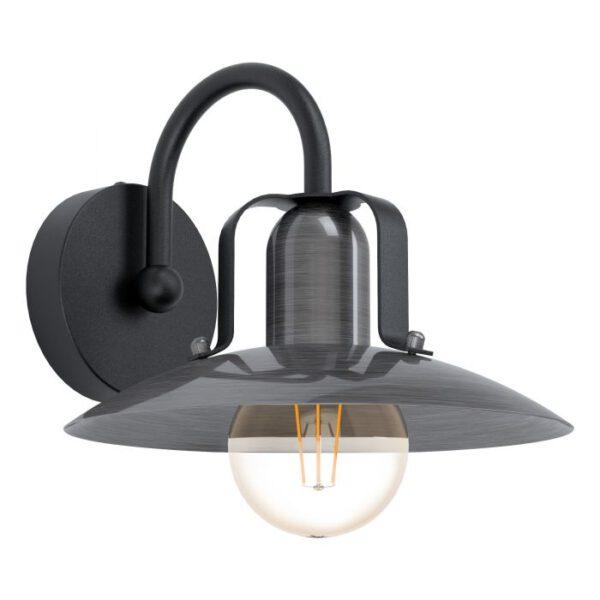Kenilworth wandlamp uit de wandlampen collectie van Eglo, verlichting voor een sfeervol thuis! Schitterende lamp vervaardigd uit metaal, zwart van kleur en passend bij vele interieurstijlen. De wandlamp is voorzien van een E27 fitting. Wandlamp Kenilworth wordt geleverd exclusief lichtbron(nen).