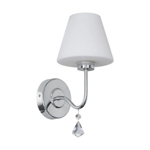 Loretto wandlamp uit de wandlampen collectie van Eglo, verlichting voor een sfeervol thuis! Schitterende lamp vervaardigd uit metaal, chroom van kleur en passend bij vele interieurstijlen. De wandlamp is voorzien van een G9-LED fitting. Wandlamp Loretto wordt geleverd inclusief lichtbron(nen).