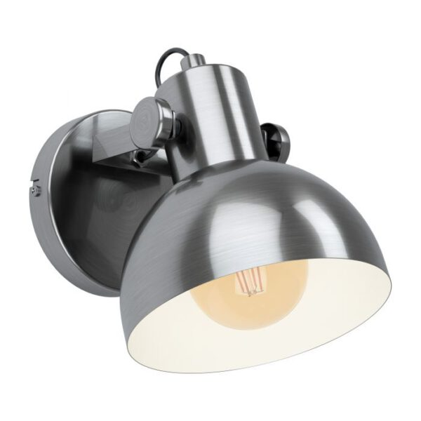 Lubenham 1 wandlamp uit de wandlampen collectie van Eglo, verlichting voor een sfeervol thuis! Schitterende lamp vervaardigd uit metaal, nikkel-antiek, crème van kleur en passend bij vele interieurstijlen. De wandlamp is voorzien van een E27 fitting. Wandlamp Lubenham 1 wordt geleverd exclusief lichtbron(nen).