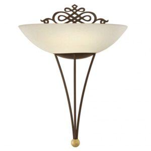 Mestre wandlamp uit de wandlampen collectie van Eglo, verlichting voor een sfeervol thuis! Schitterende lamp vervaardigd uit metaal, antiek-bruin, goud van kleur en passend bij vele interieurstijlen. De wandlamp is voorzien van een E27 fitting. Wandlamp Mestre wordt geleverd exclusief lichtbron(nen).