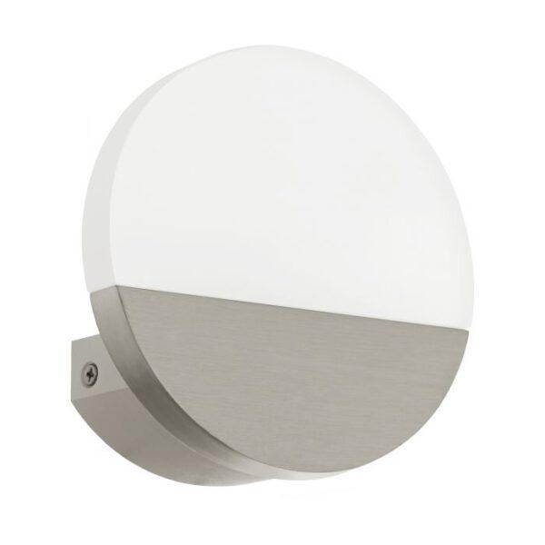 Metrass 1 wandlamp uit de wandlampen collectie van Eglo, verlichting voor een sfeervol thuis! Schitterende lamp vervaardigd uit aluminium, nikkel-mat van kleur en passend bij vele interieurstijlen. De wandlamp is voorzien van een LED fitting. Wandlamp Metrass 1 wordt geleverd inclusief lichtbron(nen).