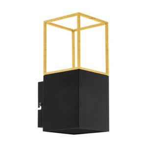 Montebaldo wandlamp uit de wandlampen collectie van Eglo, verlichting voor een sfeervol thuis! Schitterende lamp vervaardigd uit metaal, zwart, goud van kleur en passend bij vele interieurstijlen. De wandlamp is voorzien van een GU10-LED fitting. Wandlamp Montebaldo wordt geleverd inclusief lichtbron(nen).