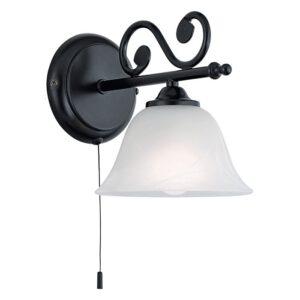 Murcia wandlamp uit de wandlampen collectie van Eglo, verlichting voor een sfeervol thuis! Schitterende lamp vervaardigd uit metaal, zwart van kleur en passend bij vele interieurstijlen. De wandlamp is voorzien van een E14 fitting. Wandlamp Murcia wordt geleverd exclusief lichtbron(nen).