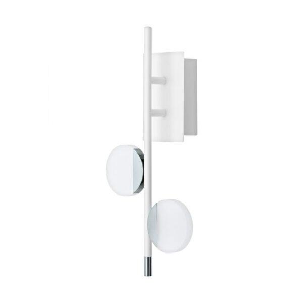 Olindra wandlamp uit de wandlampen collectie van Eglo, verlichting voor een sfeervol thuis! Schitterende lamp vervaardigd uit metaal, wit, chroom van kleur en passend bij vele interieurstijlen. De wandlamp is voorzien van een LED fitting. Wandlamp Olindra wordt geleverd inclusief lichtbron(nen).
