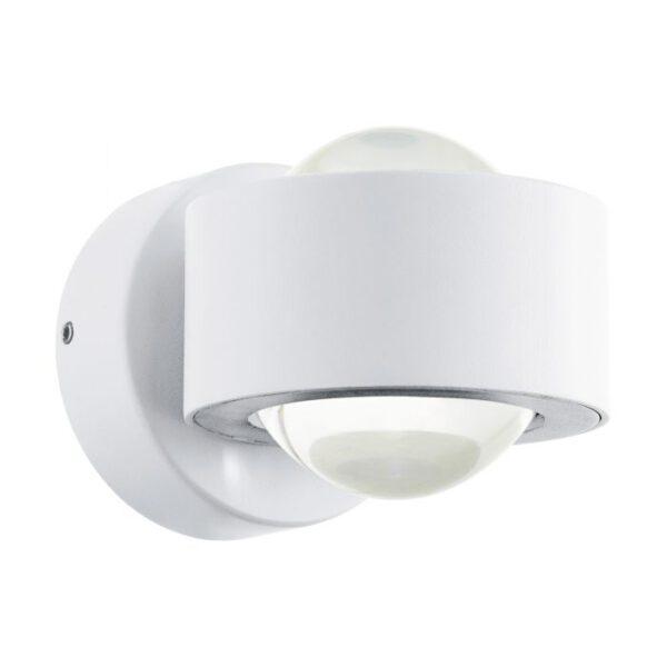 Ono 2 wandlamp uit de wandlampen collectie van Eglo, verlichting voor een sfeervol thuis! Schitterende lamp vervaardigd uit aluminium, wit van kleur en passend bij vele interieurstijlen. De wandlamp is voorzien van een LED fitting. Wandlamp Ono 2 wordt geleverd inclusief lichtbron(nen).