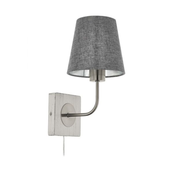 Pausia wandlamp uit de wandlampen collectie van Eglo, verlichting voor een sfeervol thuis! Schitterende lamp vervaardigd uit hout, wit-patina, nikkel-mat van kleur en passend bij vele interieurstijlen. De wandlamp is voorzien van een E27 fitting. Wandlamp Pausia wordt geleverd exclusief lichtbron(nen).