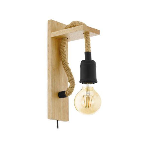 Rampside wandlamp uit de wandlampen collectie van Eglo, verlichting voor een sfeervol thuis! Schitterende lamp vervaardigd uit metaal, zwart, bruin van kleur en passend bij vele interieurstijlen. De wandlamp is voorzien van een E27 fitting. Wandlamp Rampside wordt geleverd exclusief lichtbron(nen).