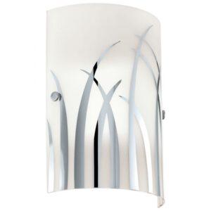 Rivato wandlamp uit de wandlampen collectie van Eglo, verlichting voor een sfeervol thuis! Schitterende lamp vervaardigd uit metaal, wit, chroom van kleur en passend bij vele interieurstijlen. De wandlamp is voorzien van een E14 fitting. Wandlamp Rivato wordt geleverd exclusief lichtbron(nen).