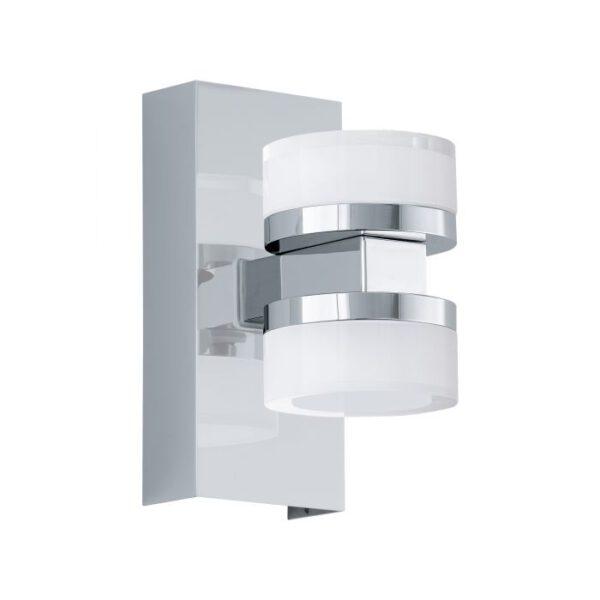 Romendo 1 wandlamp uit de wandlampen collectie van Eglo, verlichting voor een sfeervol thuis! Schitterende lamp vervaardigd uit metaal, chroom van kleur en passend bij vele interieurstijlen. De wandlamp is voorzien van een LED fitting. Wandlamp Romendo 1 wordt geleverd inclusief lichtbron(nen).