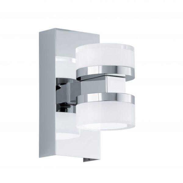 Romendo wandlamp uit de wandlampen collectie van Eglo, verlichting voor een sfeervol thuis! Schitterende lamp vervaardigd uit metaal, chroom van kleur en passend bij vele interieurstijlen. De wandlamp is voorzien van een LED fitting. Wandlamp Romendo wordt geleverd inclusief lichtbron(nen).