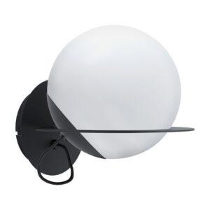 Sabalete wandlamp uit de wandlampen collectie van Eglo, verlichting voor een sfeervol thuis! Schitterende lamp vervaardigd uit metaal, zwart van kleur en passend bij vele interieurstijlen. De wandlamp is voorzien van een E27 fitting. Wandlamp Sabalete wordt geleverd exclusief lichtbron(nen).