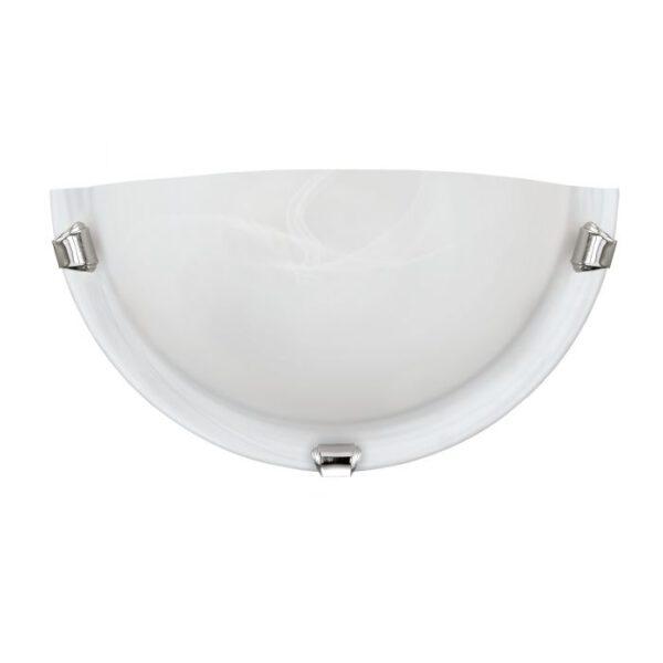 Salome wandlamp uit de wandlampen collectie van Eglo, verlichting voor een sfeervol thuis! Schitterende lamp vervaardigd uit metaal, chroom van kleur en passend bij vele interieurstijlen. De wandlamp is voorzien van een E27 fitting. Wandlamp Salome wordt geleverd exclusief lichtbron(nen).