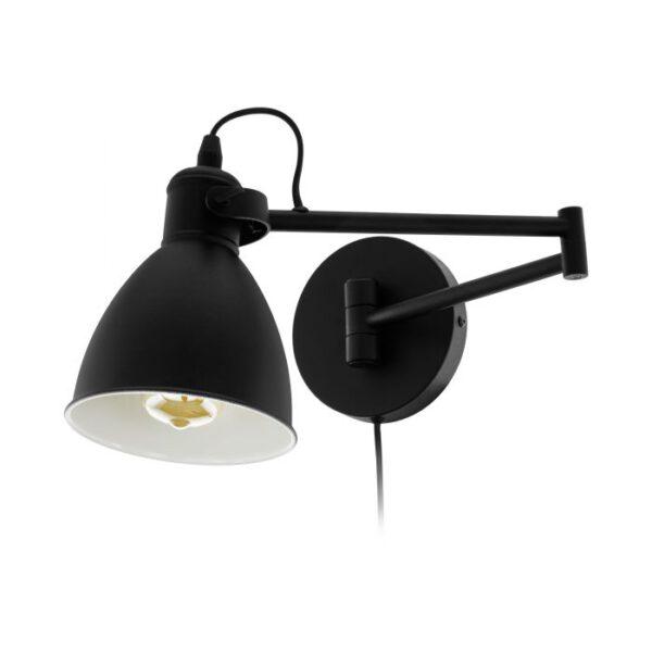 San Peri wandlamp uit de wandlampen collectie van Eglo, verlichting voor een sfeervol thuis! Schitterende lamp vervaardigd uit metaal, zwart van kleur en passend bij vele interieurstijlen. De wandlamp is voorzien van een E27-LED-A60 fitting. Wandlamp San Peri wordt geleverd exclusief lichtbron(nen).